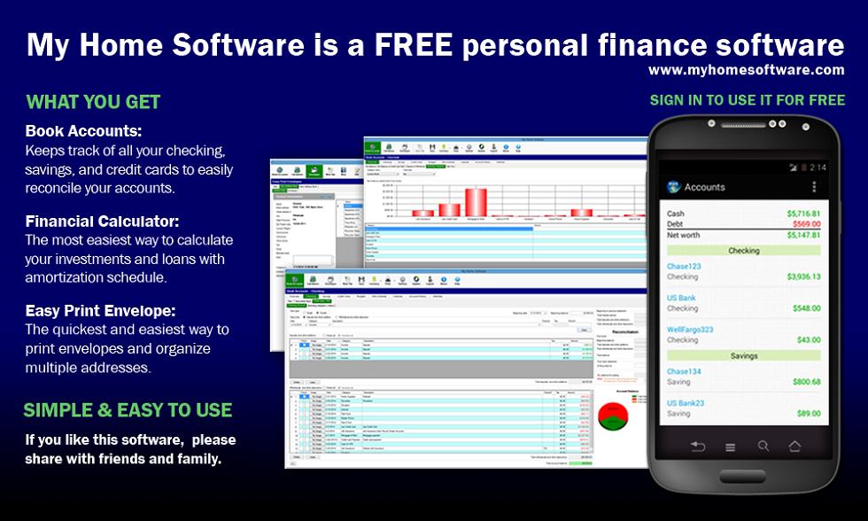 My Home Software,Personal Finance Software, Loan Calculator